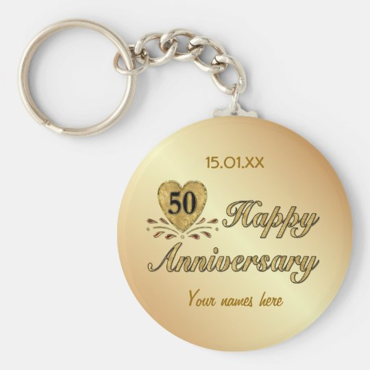 50th Anniversary - Gold Basic Round Button Key