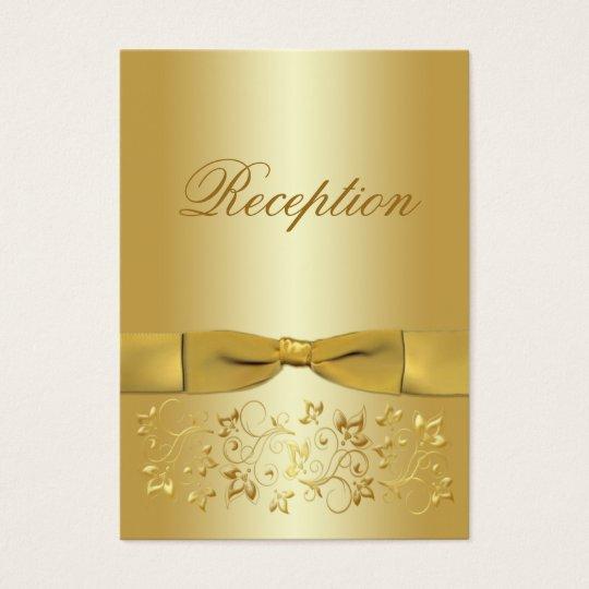 50th Anniversary Gold Floral Enclosure Card