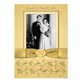 50th Anniversary Gold Invite- DON T USE GOLD PAPER