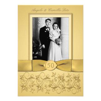 50th Anniversary Gold Invite- DON'T USE GOLD PAPER