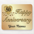 50th Anniversary - Gold Mouse Mat