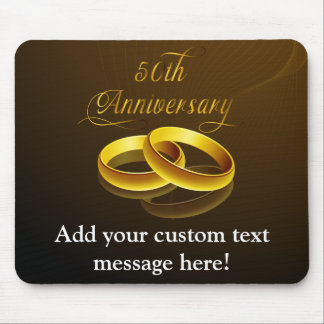 50th Anniversary | Gold Script Mouse Pad