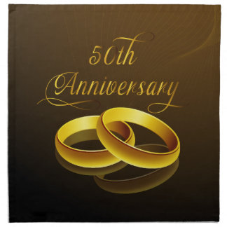 50th Anniversary | Gold Script Napkin