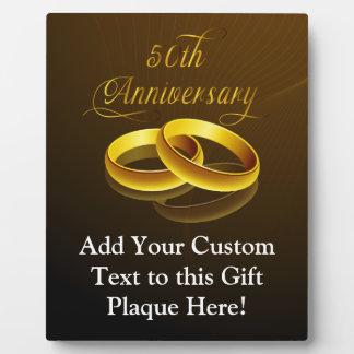 50th Anniversary | Gold Script Photo Plaque