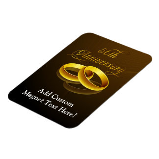 50th Anniversary | Gold Script Rectangular Photo Magnet