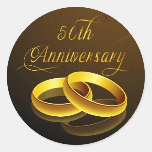 50th Anniversary | Gold Script Stickers