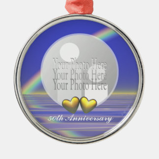 50th Anniversary Golden Hearts (photo frame) Christmas Ornament