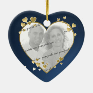 50th Anniversary Heart Photo Keepsake Christmas Ornament