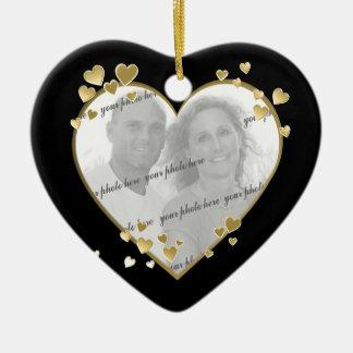 50th Anniversary Heart Photo Keepsake Christmas Ornament