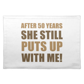 50th Anniversary Humor For Men Place Mats