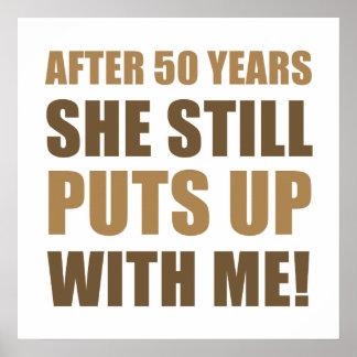 50th Anniversary Humor For Men Print