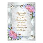 """50th Anniversary invitation for parents 5"""" X 7"""" Invitation Card"""