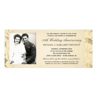 50th Anniversary Invitations - Victorian Floral
