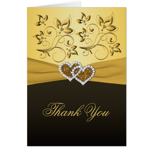 50th Anniversary Joined Hearts Thank You Card