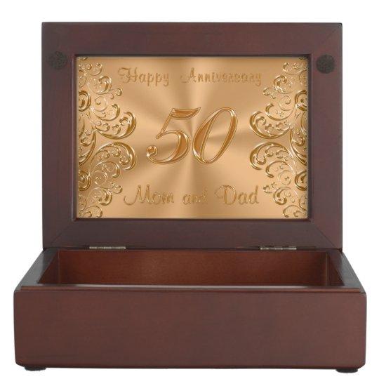 50th Anniversary Keepsake Box for Mum and Dad