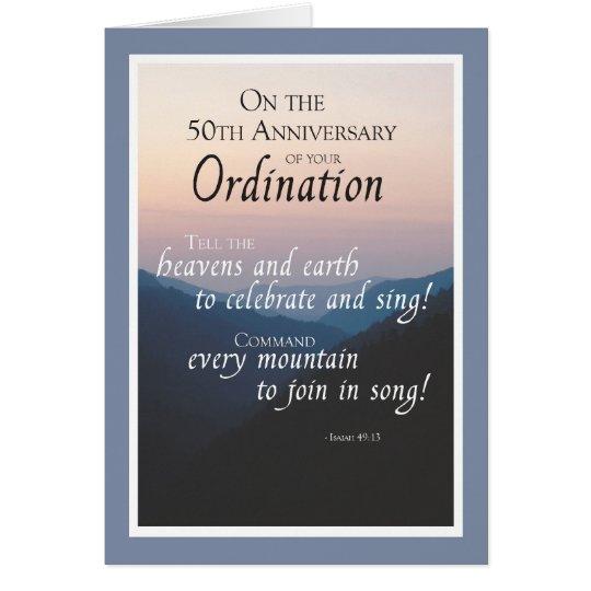 50th Anniversary of Ordination Congratulations Card