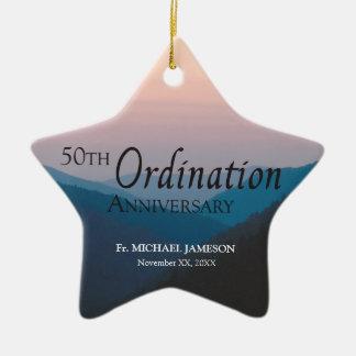 50th Anniversary of Ordination Congratulations Christmas Ornament