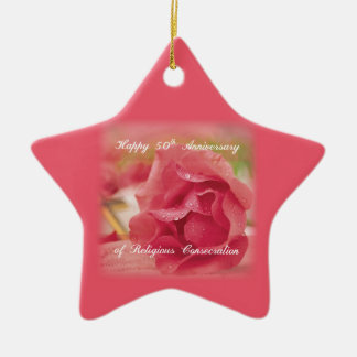 50th Anniversary of Religious Consecration Rose Christmas Ornament