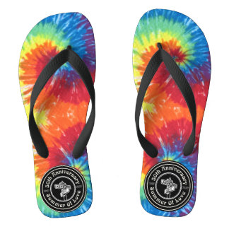 50th Anniversary of the Summer of Love Flip Flops