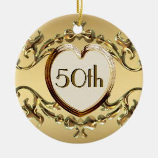 50th Anniversary Or 50th Birthday Ornament