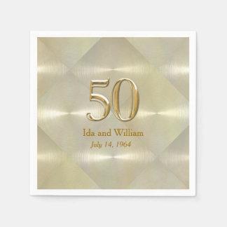 50th Anniversary or Birthday Paper Napkins