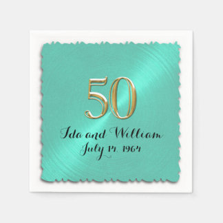 50th Anniversary Paper Serviettes