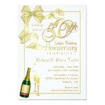 50th Anniversary Party - Bargain Invitations 13 Cm X 18 Cm Invitation Card