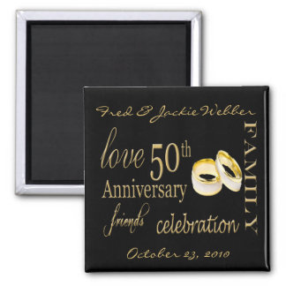 50th Anniversary Party Favor - Easy to Personalize Magnets
