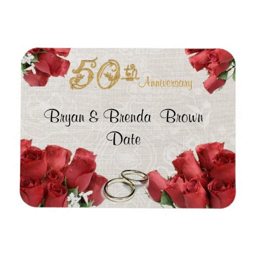 50th Anniversary Party Favor Magnet