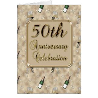 50th Anniversary Party Invitation Greeting Card