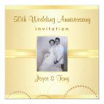 50th Anniversary Party Invitation - Photo Optional 13 Cm X 13 Cm Square Invitation Card