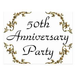 50th anniversary invitation postcards zazzle uk 50th anniversary party invitation postcards stopboris Gallery