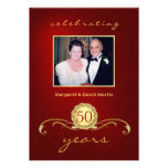 50th Anniversary Party Invitations - Elegant Red