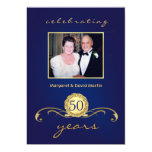50th Anniversary Party Invitations - Royal Blue