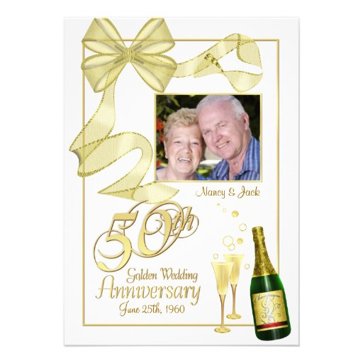 50th Anniversary Party Photo Invitations - Bargain