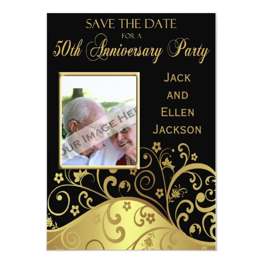 50th Anniversary Party Save the Date With Photo