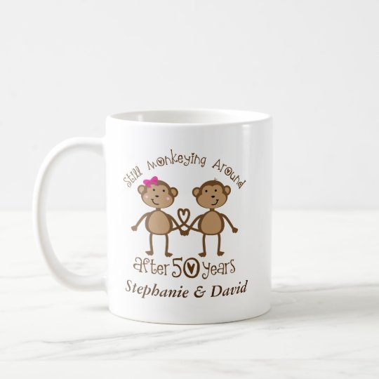 50th Anniversary Personalised His and Hers Mugs