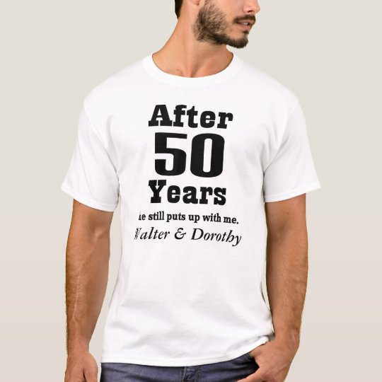 50th Anniversary Personalised Husband Gift T-shirt
