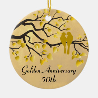 50th Anniversary Personalized Celebration Christmas Ornament