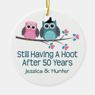 50th Anniversary Personalized Couples Gift Christmas Ornament