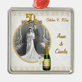 50th Anniversary Photo Keepsake Ornament