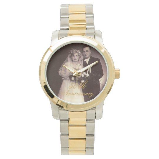 50th Anniversary Photo Personalised Watch