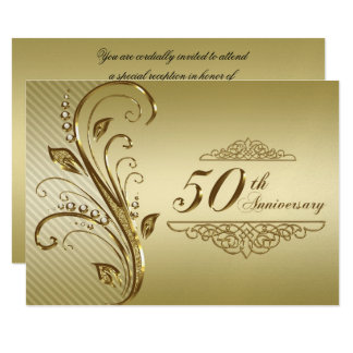 50th wedding anniversary rsvp cards 50th wedding