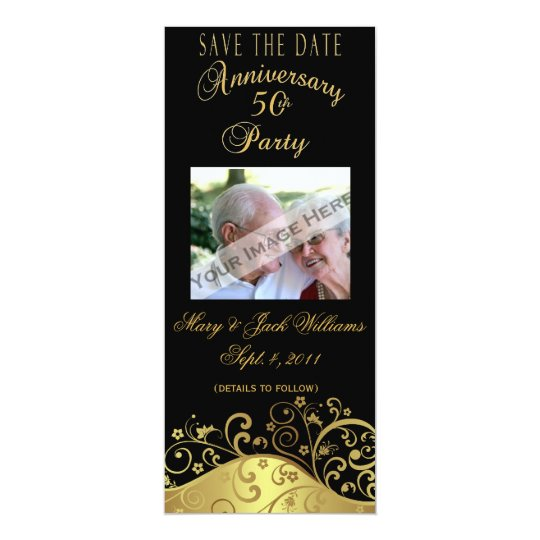 50th Anniversary Save the Date Card/Invitation Card
