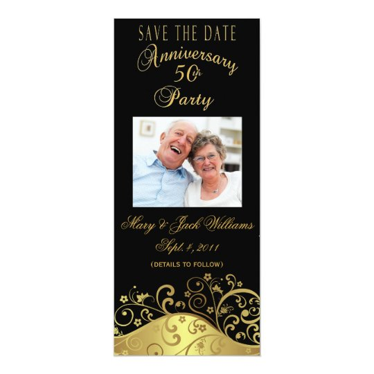 50th Anniversary Save the Date Photo Card Invite