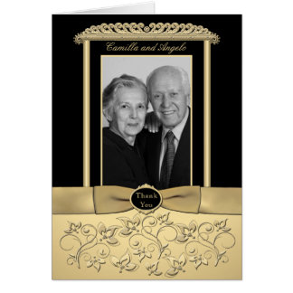 50th Anniversary Thank You Card with Photo Insert