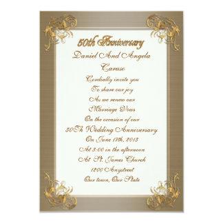 50th Anniversary vow renewal Invitation