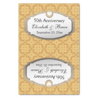 "50th Anniversary Wedding Anniversary Gold Z05 10"" X 15"" Tissue Paper"
