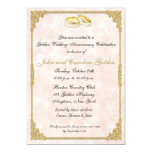 "50th Anniversary Wedding Rings Invitation 5"" X 7"" Invitation Card"