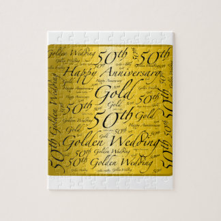 50th Anniversary Word Art Graphic Puzzle
